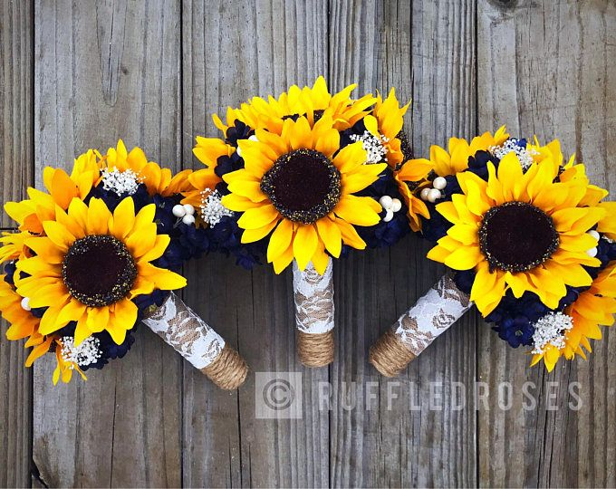 Sunflower Bouquet, Rustic Bouquet, Wine and Sunflower Bouquet, Marsala Sunflower Bouquet, Bridal Bouquet #bridesmaidbouquets