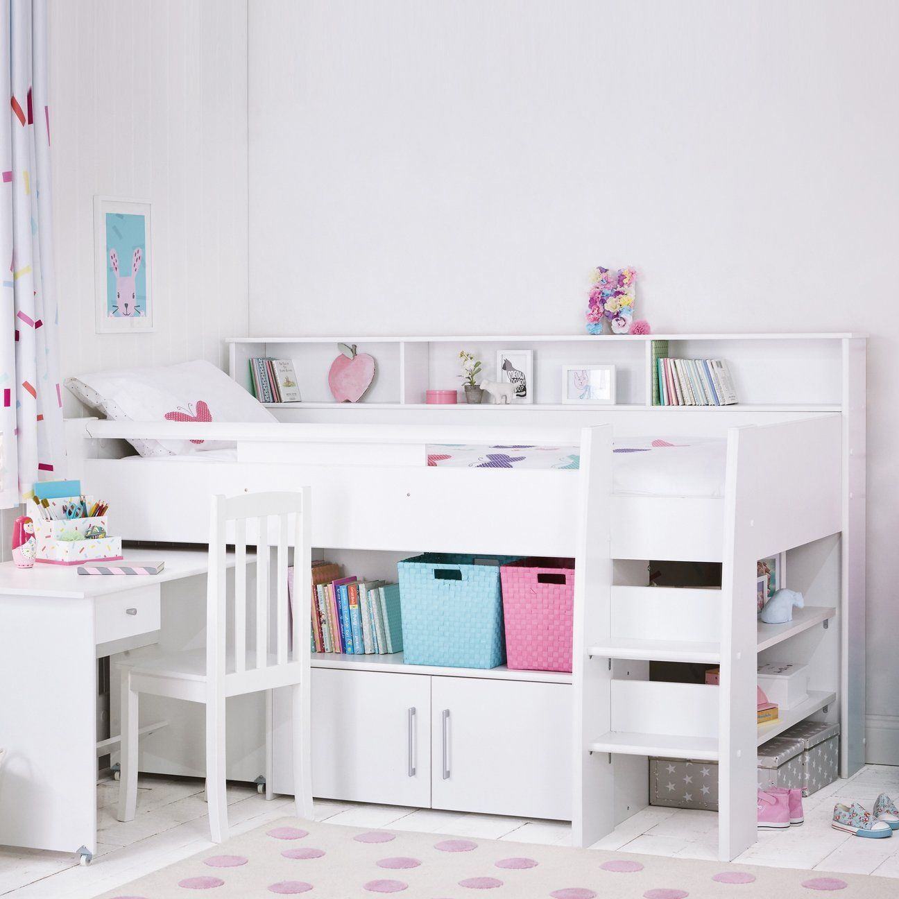 Reece Cabin Bed Cabin Bed With Desk Cabin Beds For Kids Girls Cabin Bed