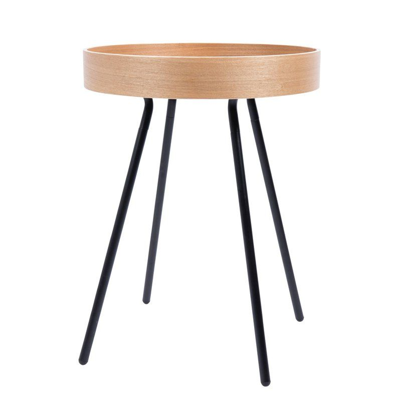 table dappoint ronde plateau amovible oak tray zuiver - Table D Appoint Ronde
