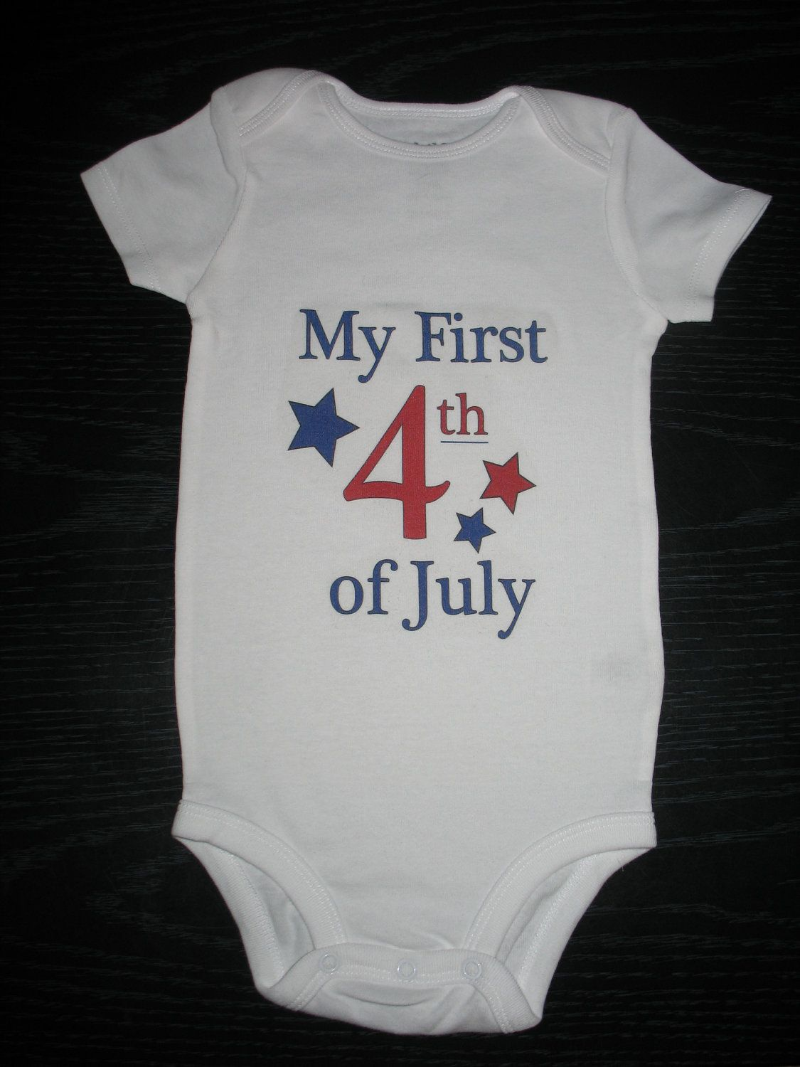 "Baby Onesie ""My First 4th of July"" CUTE! Custom baby"