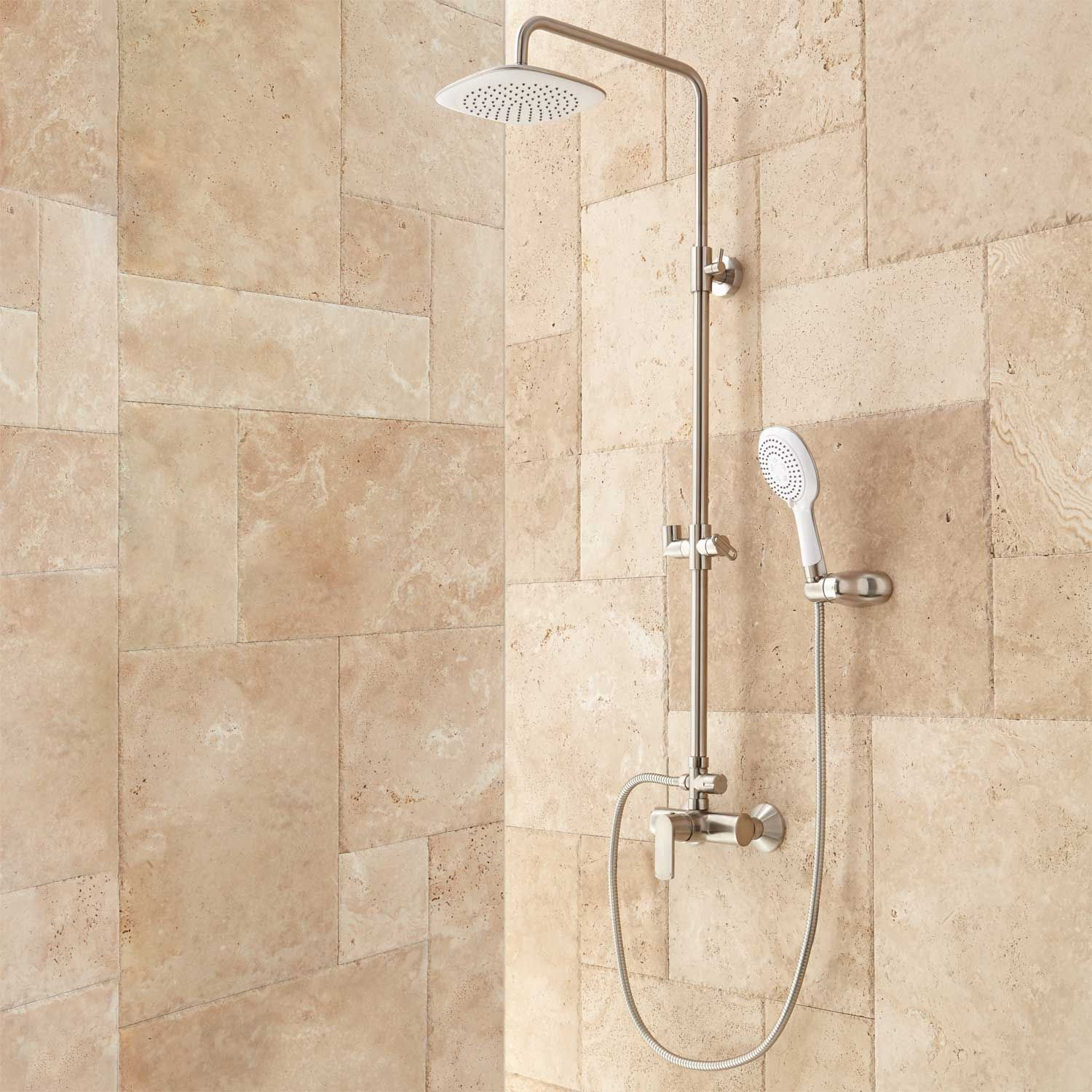 mayport exposed pipe shower showerhead and wand shower tub rh pinterest co uk
