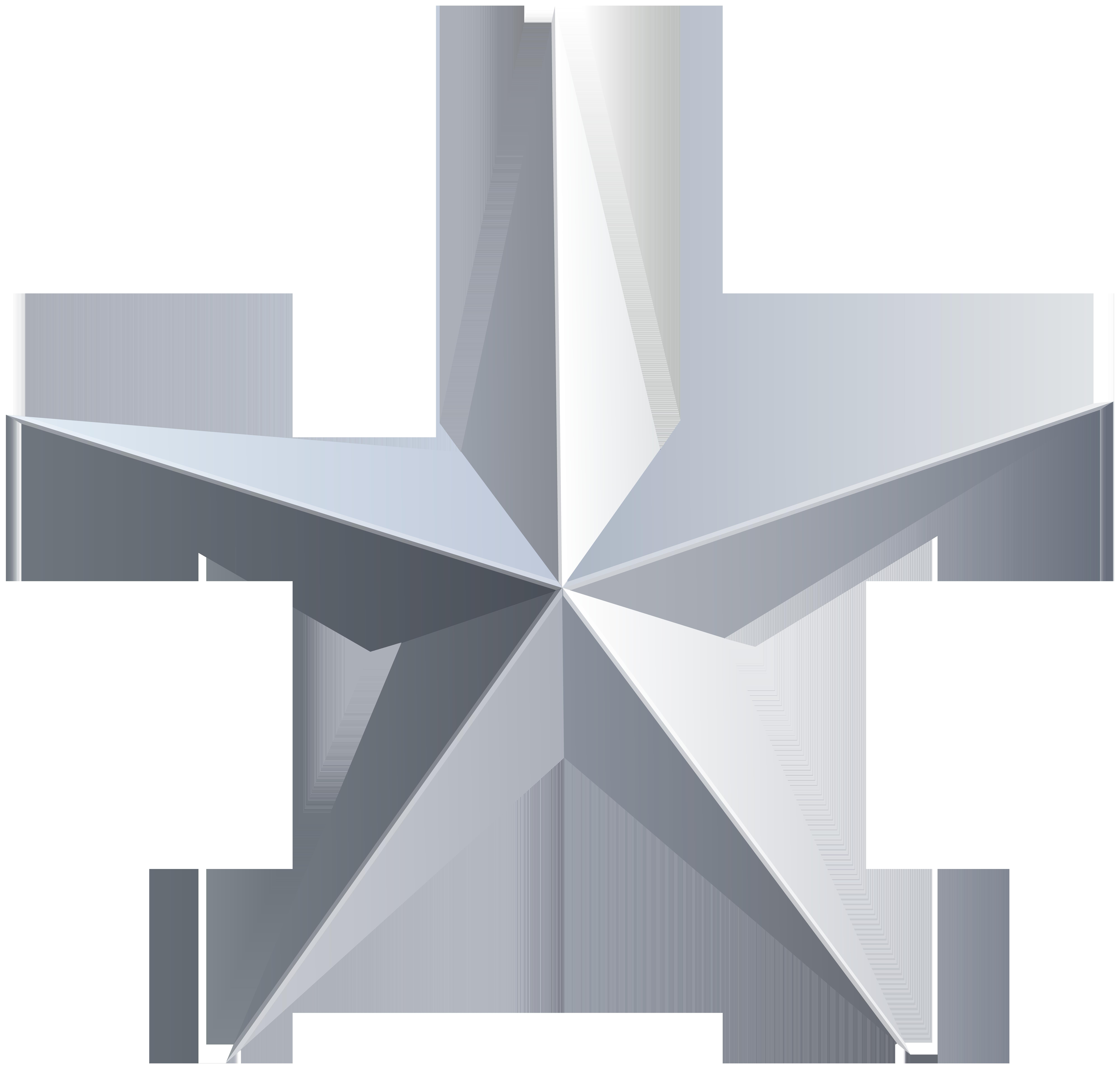 Silver Silver Stars Clip Art Art