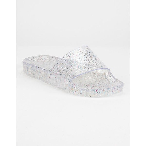 da733e1b0d46 Wild Diva Sparkle Jelly Womens Slide Sandals ( 15) ❤ liked on Polyvore  featuring shoes