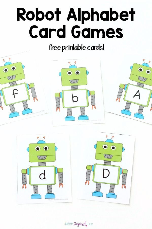 Robot Alphabet Cards