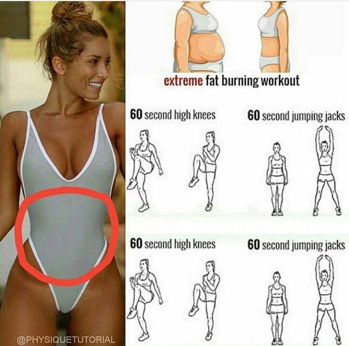 Are extreme naked women doing jumping jacks