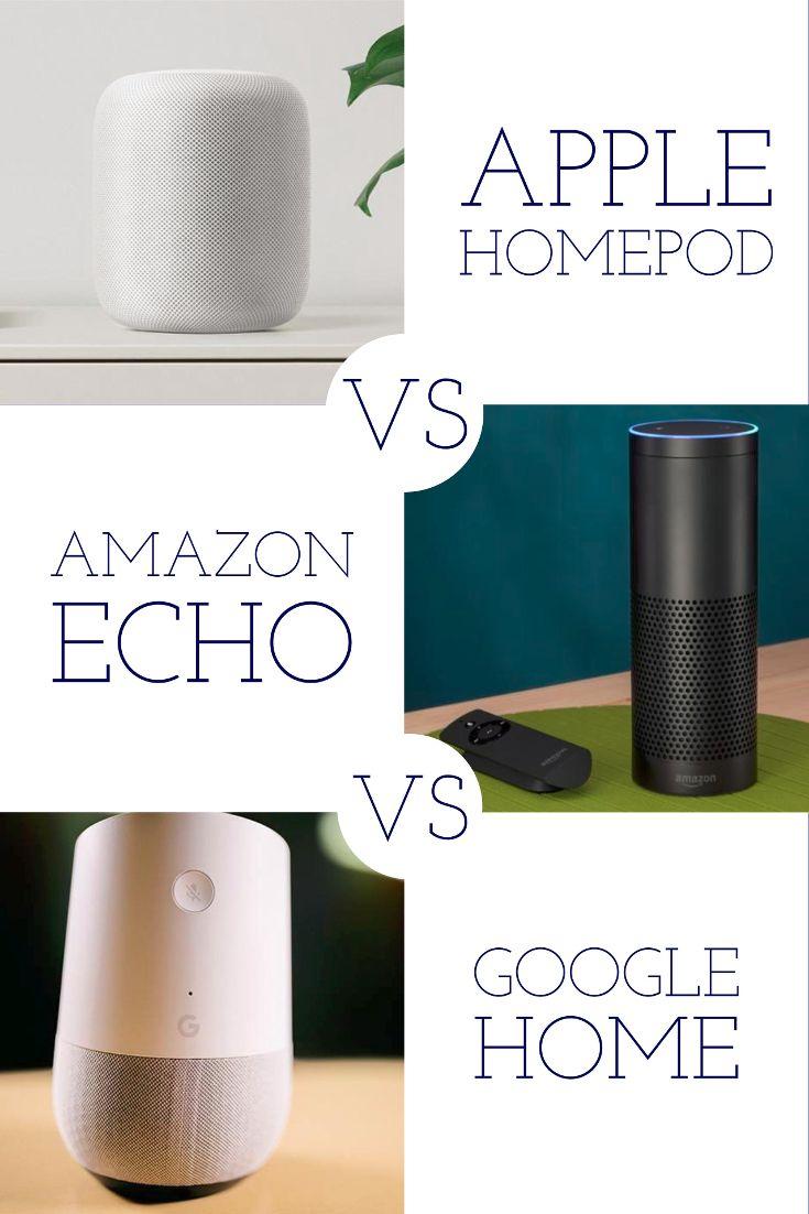 Apple Homepod Vs Amazon Echo Vs Google Home Smart Speaker Showdown Google Home Amazon Echo Security Gadgets