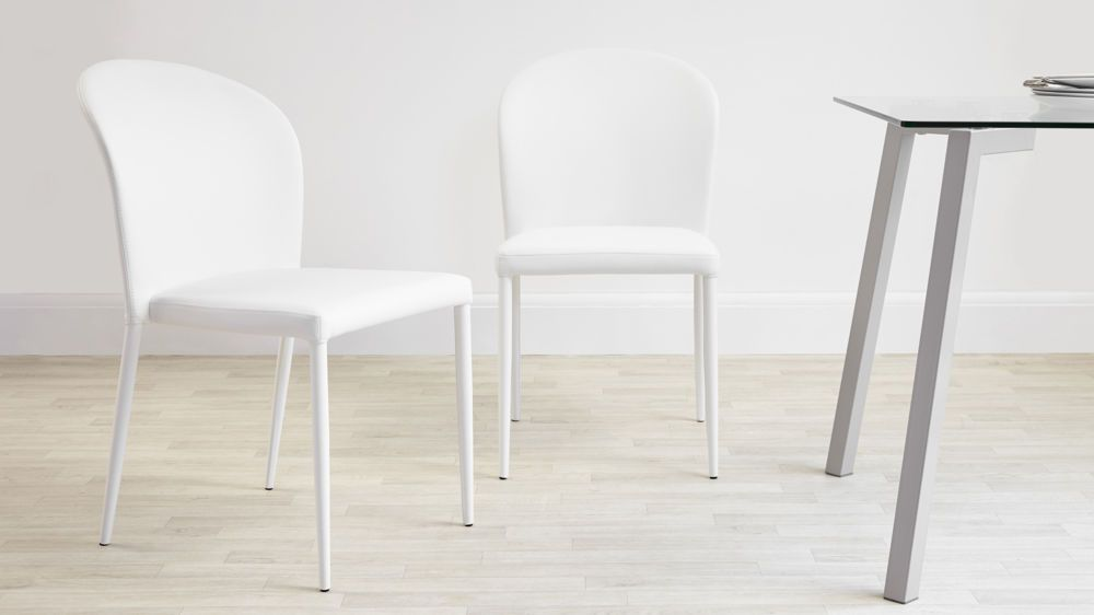 Cheap White Dining Chairs Santo Stackable Faux