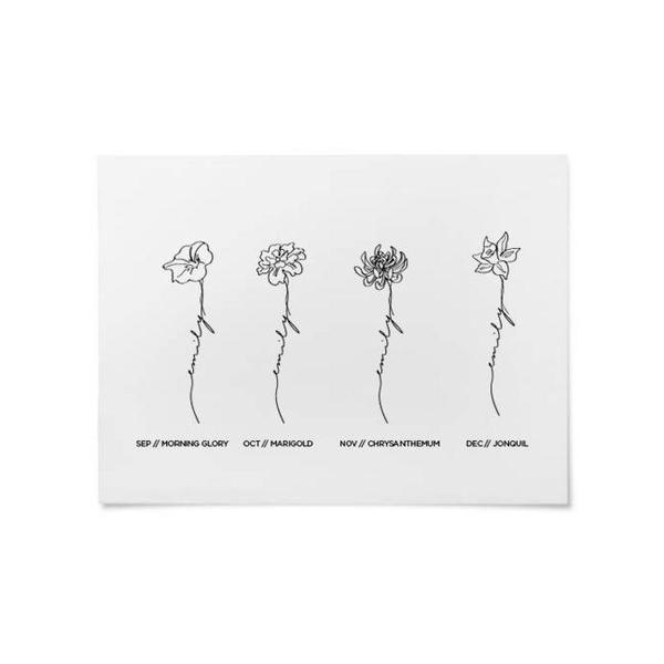 Florale Birth Print Custom Narcissus Flower Tattoos Chrysanthemum Tattoo Daffodil Tattoo