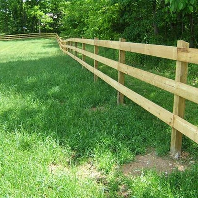 Building A Wooden Horse Fence Rustic Fence Farm Fence