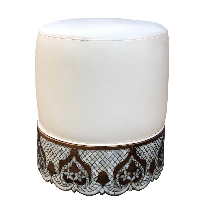 Pleasant Modern Mother Of Pearl Inlay Ottoman In 2019 Mother Pearl Lamtechconsult Wood Chair Design Ideas Lamtechconsultcom