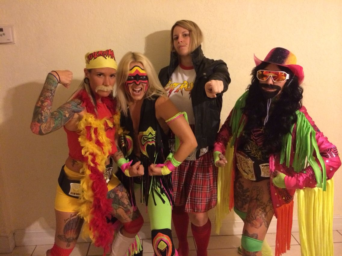 me and the girls for halloween!! from left hulk hogan, ultimate