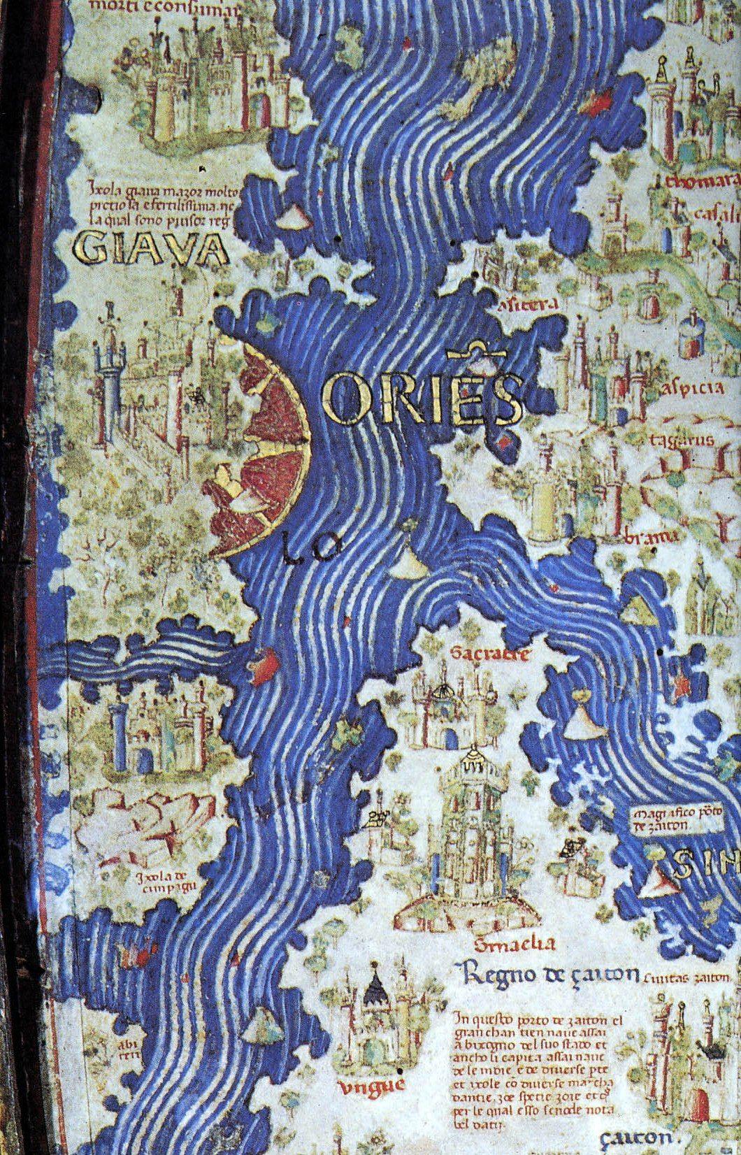 Cipangu on the 1453 Fra Mauro map