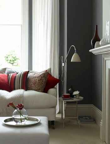 mix muted greys and cream with pops of regal red could be a way to rh pinterest com