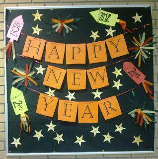 happy new year | January bulletin boards, Work bulletin ...
