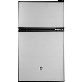 Nice Ge 3.1 Cu Ft Freestanding Compact Refrigerator Freezer Compartment  (Cleansteel) Energy Star Gde03glklb | Compact Refrigerator, Refrigerator  And Compact