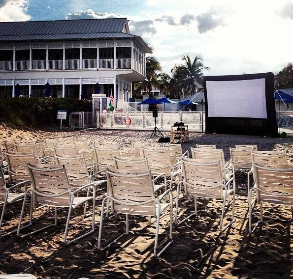 Movie Night Day Time Setup The Seagates Private Beach Club In Delray