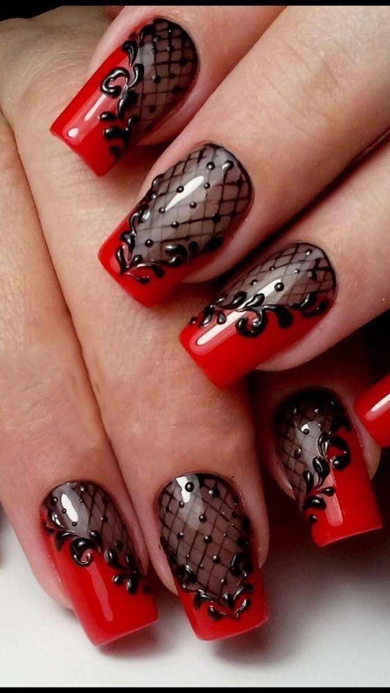 60+ Halloween Nail Art Ideas; Creepy halloween nails; cute ...