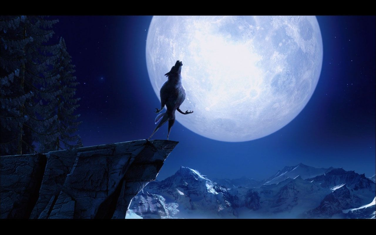 Wolf Howling At The Moon Wallpapers Wallpaper Cave Werewolf