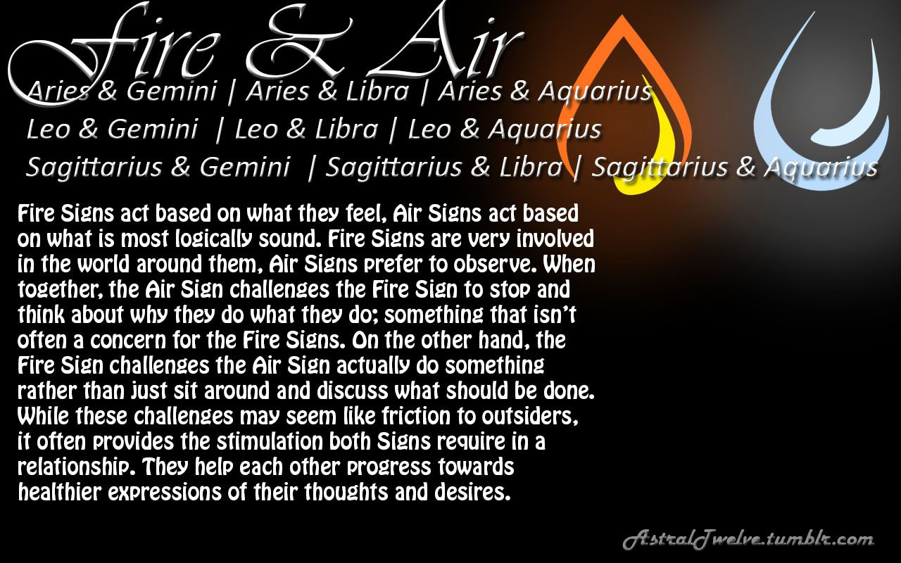 Air signs compatibility
