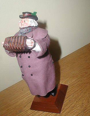 Simpich Character Doll Christmas Caroler Series CONCERTINA MAN Accordion