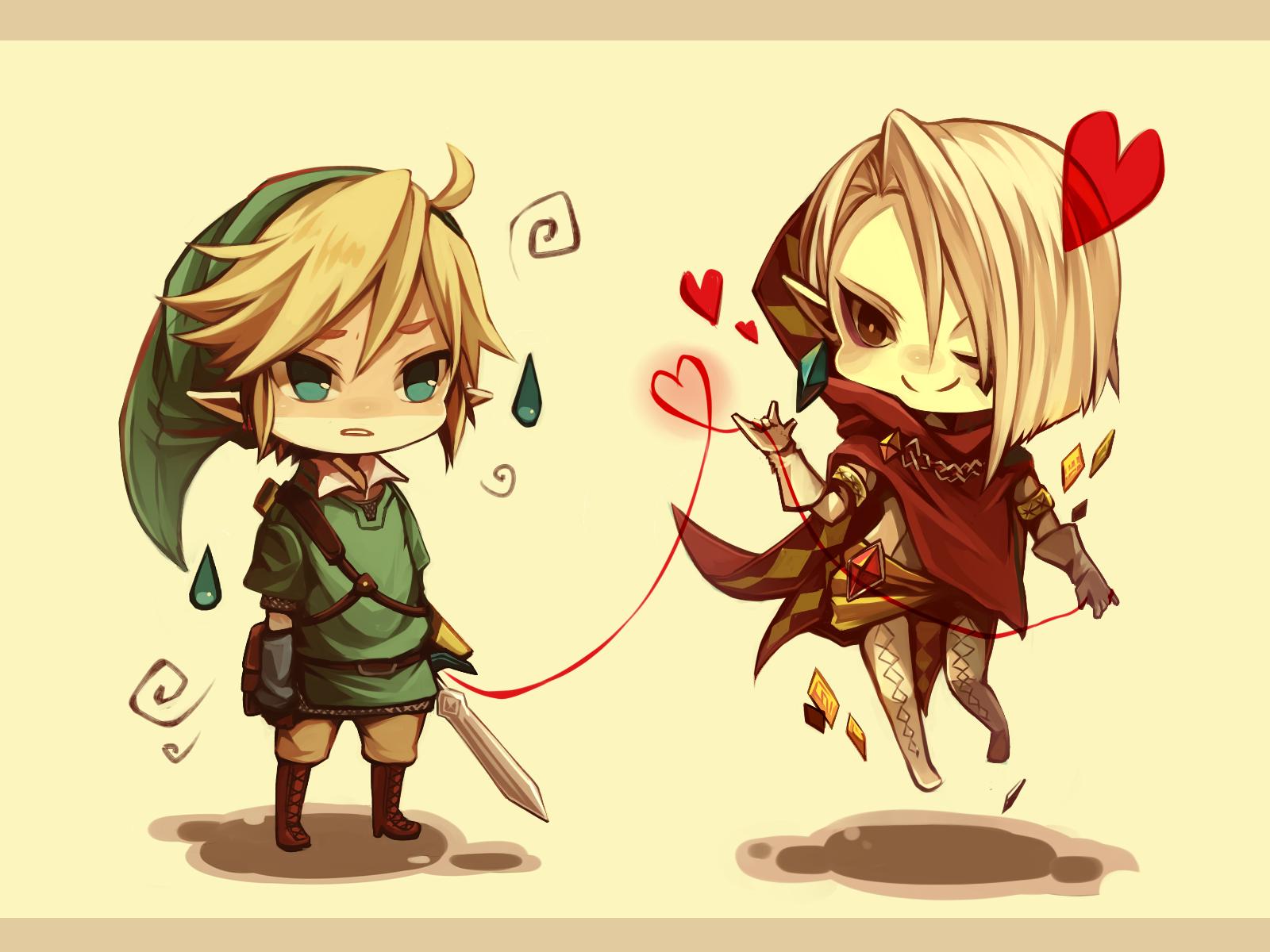 Chibis Link and Ghirahim <3 | #Skyward_Sword