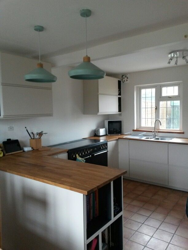 my new kitchen ikea voxtorp light beige oak worktops eldh s in rh pinterest com