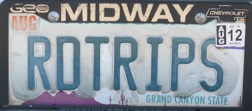Arizona Personalized Plates >> Rdtrips Road Trips Az Vanity Plate Great Retirement