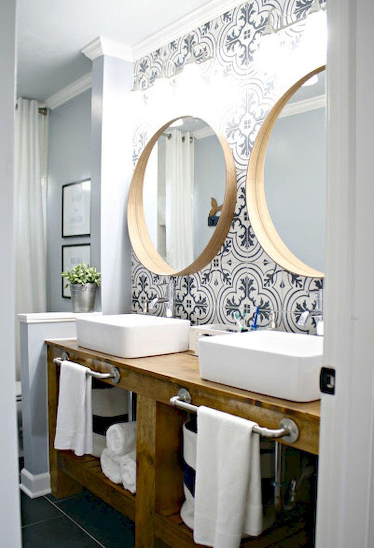 Cool 35 Farmhouse Master Bathroom Ideas httpsroomodelingcom35