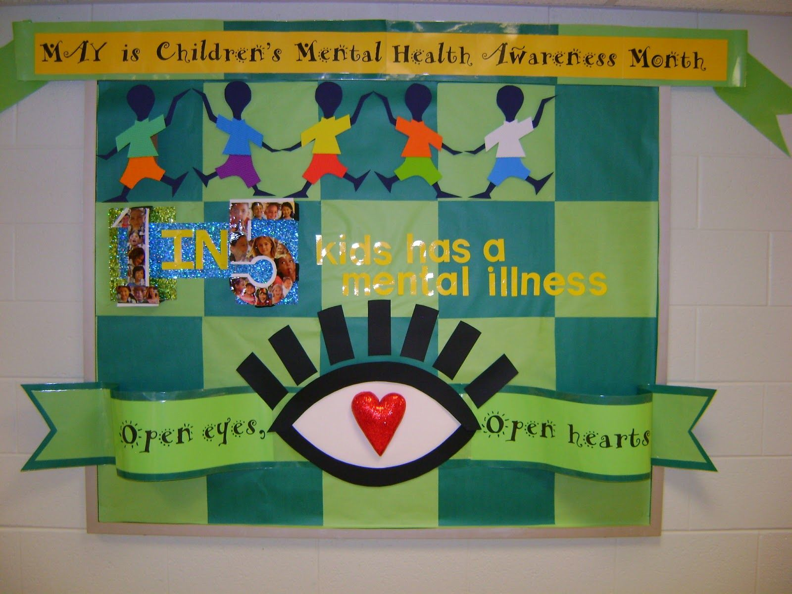 Go green vegetable bulletin board idea myclassroomideas com - Elementary Counseling Blog Mental Health Awareness Month Done By My Awesome Parent Volunteer Health Bulletin Boardsschool