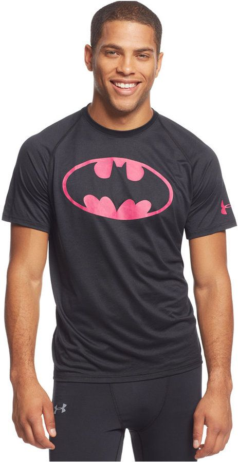 Under Armour Alter Ego Power in Pink Batman T-Shirt