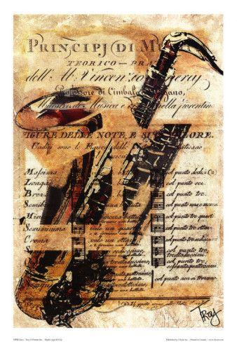 Saxophon Kunstdruck von Troy bei AllPosters.de