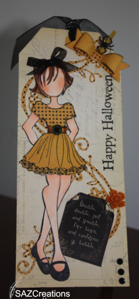 Happy Halloween Doll Tag by SAZCreations - Cards and Paper Crafts at Splitcoaststampers