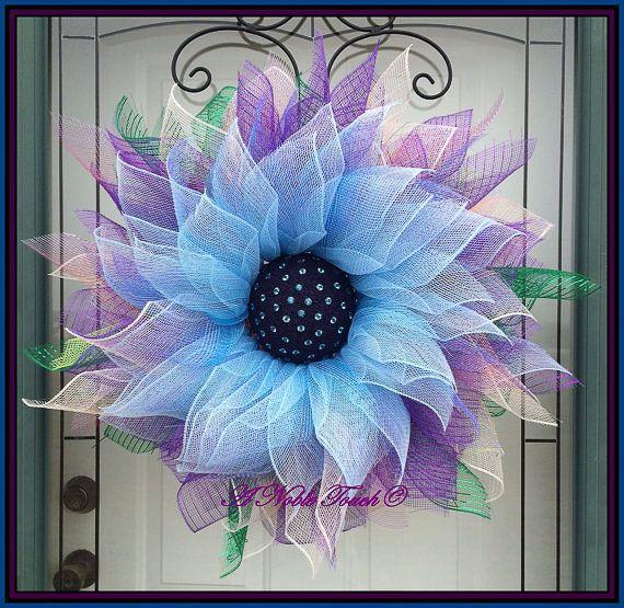 foto de 30 Stunning Summer Wreaths Wreath crafts Purple wreath