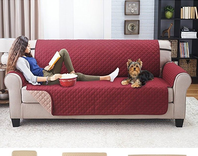 Home Decor 1 2 3 Seater Slipcovers Elastic Fabric Sofa Cover Pet Dog Cat Sectional Furniture Covers Wine Red In 2020 Leather Sofa Covers Sofa Furniture Sofa Protector