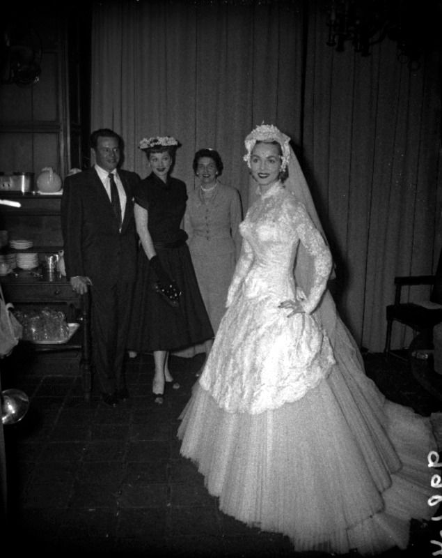 Looks Like They Re Viewing The Wedding Gown Lucy Will Wear In Forever Darling C 1956 Beautiful Gowns Wedding Gowns Desi