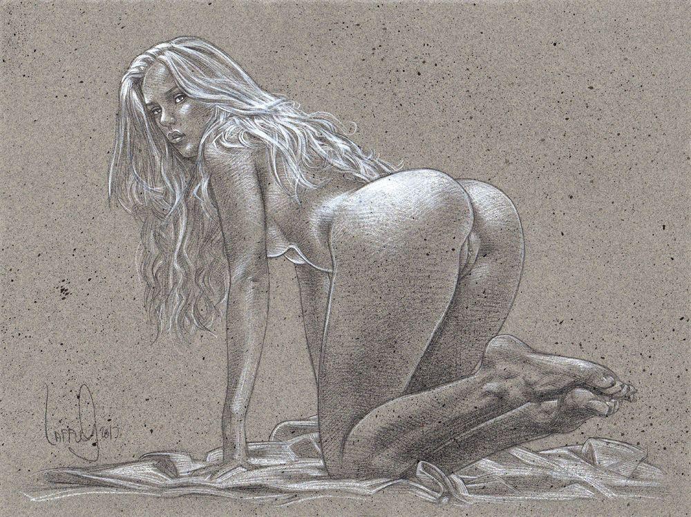 Female erotic paintings and drawings