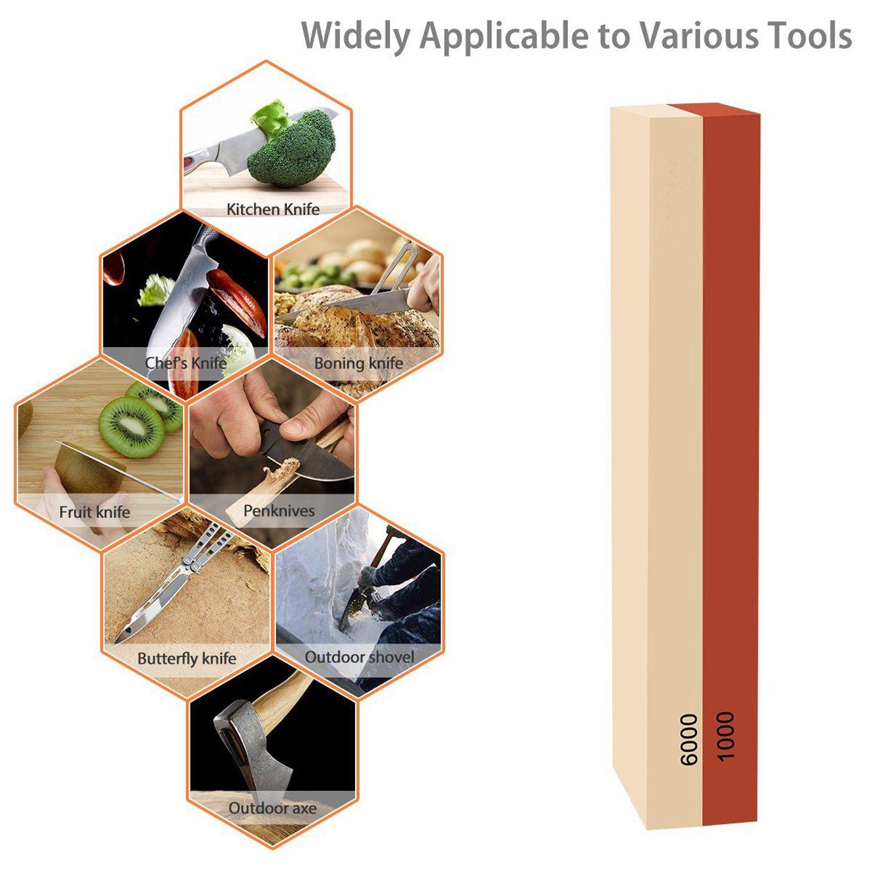 Hjyc sharpening stoneknife sharpener2 side grit whetstone