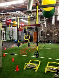 I kind of like the turf idea home gym fitness studio ideas
