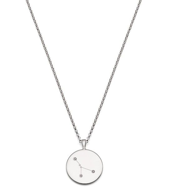 Novica Sterling silver and cubic zirconia pendant necklace, Zodiac Charm Cancer