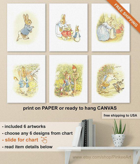 Peter Rabbit Nursery Decor, Peter Rabbit Baby Shower Decorations, Beatrix Potter Gifts, Beatrix Potter Nursery Wall Art, Peter Rabbit Gifts Print on paper ...