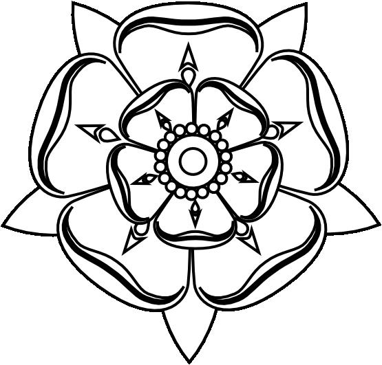 Line Art Rose Tattoo : Yorkshire rose black white line art tattoo tatoo flower