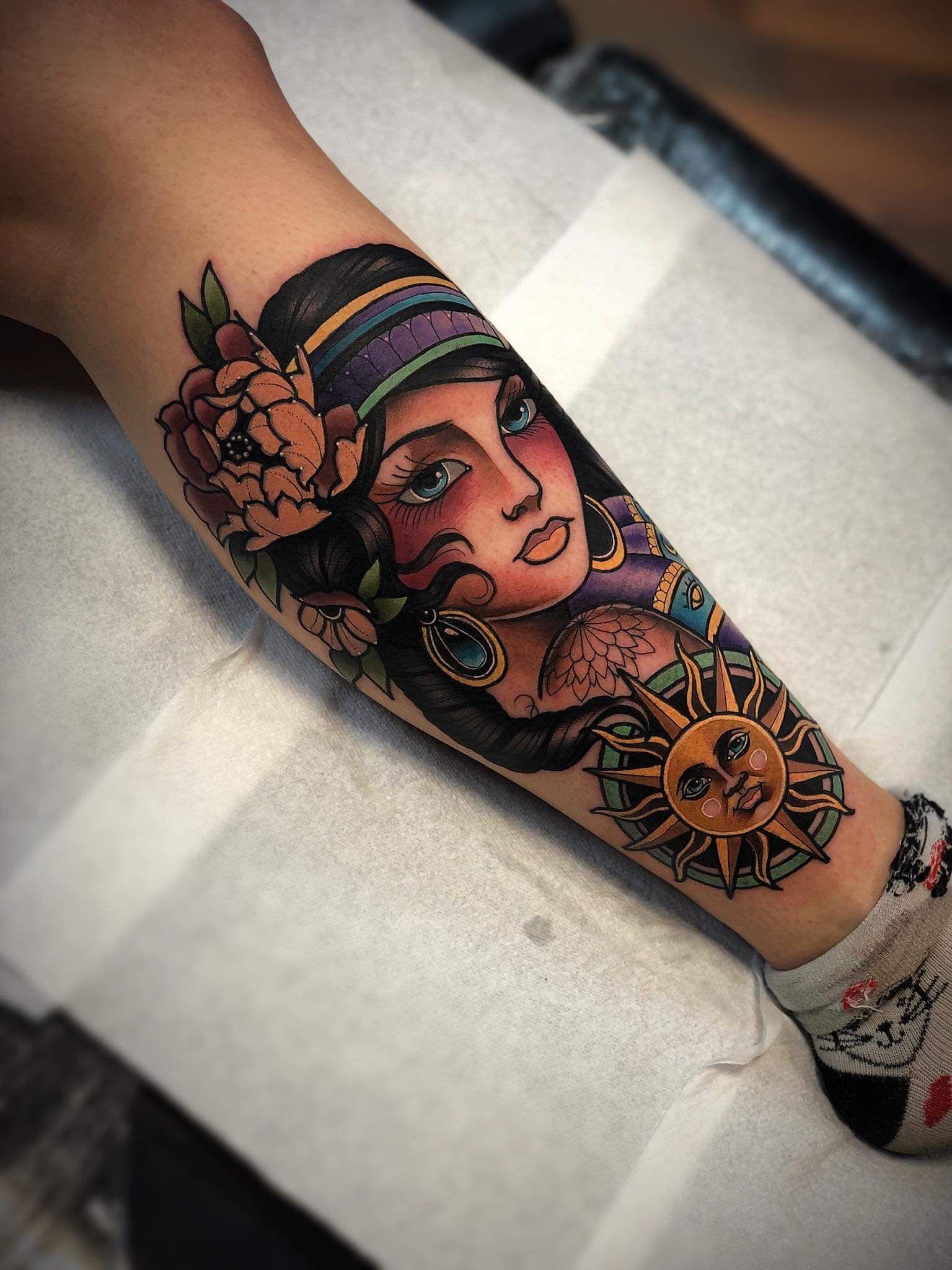 """Jess Thornton 🌵🌙 on Instagram: """"Gypsy soul 🌞✌🏼✨ New tattoo done today by the amazing @jayfletcher23 @studio31tattoo 💉😍"""""""