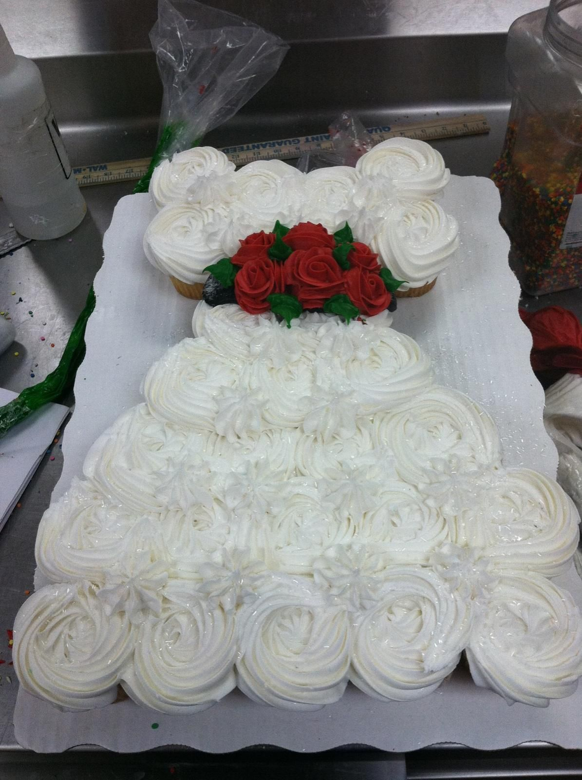 Wedding Wedding Dress Cupcake Cake wedding dress cupcake cake by nichole i love this this