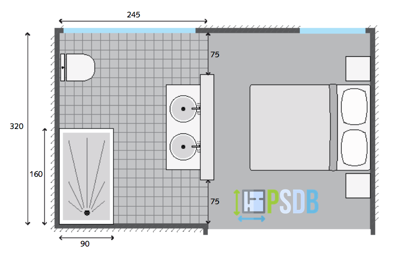 Exemple Plan De Salle De Bain De 7 8m2 Plan Salle De Bain Grande Salle De Bain Salle De Bain