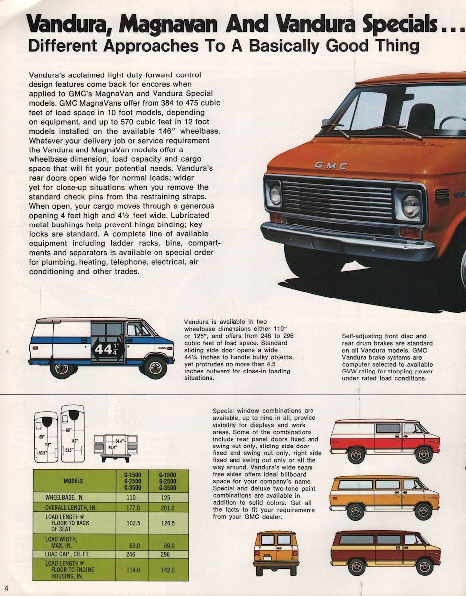 1976 Commercial GMC Sales Brochure | Chevrolet van | Pinterest ...