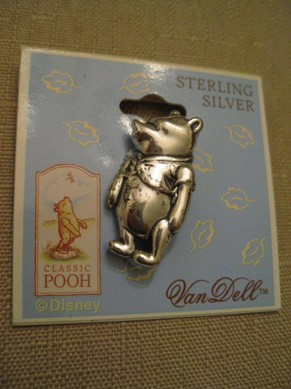 925 sterling silver winnie the pooh brooch on original