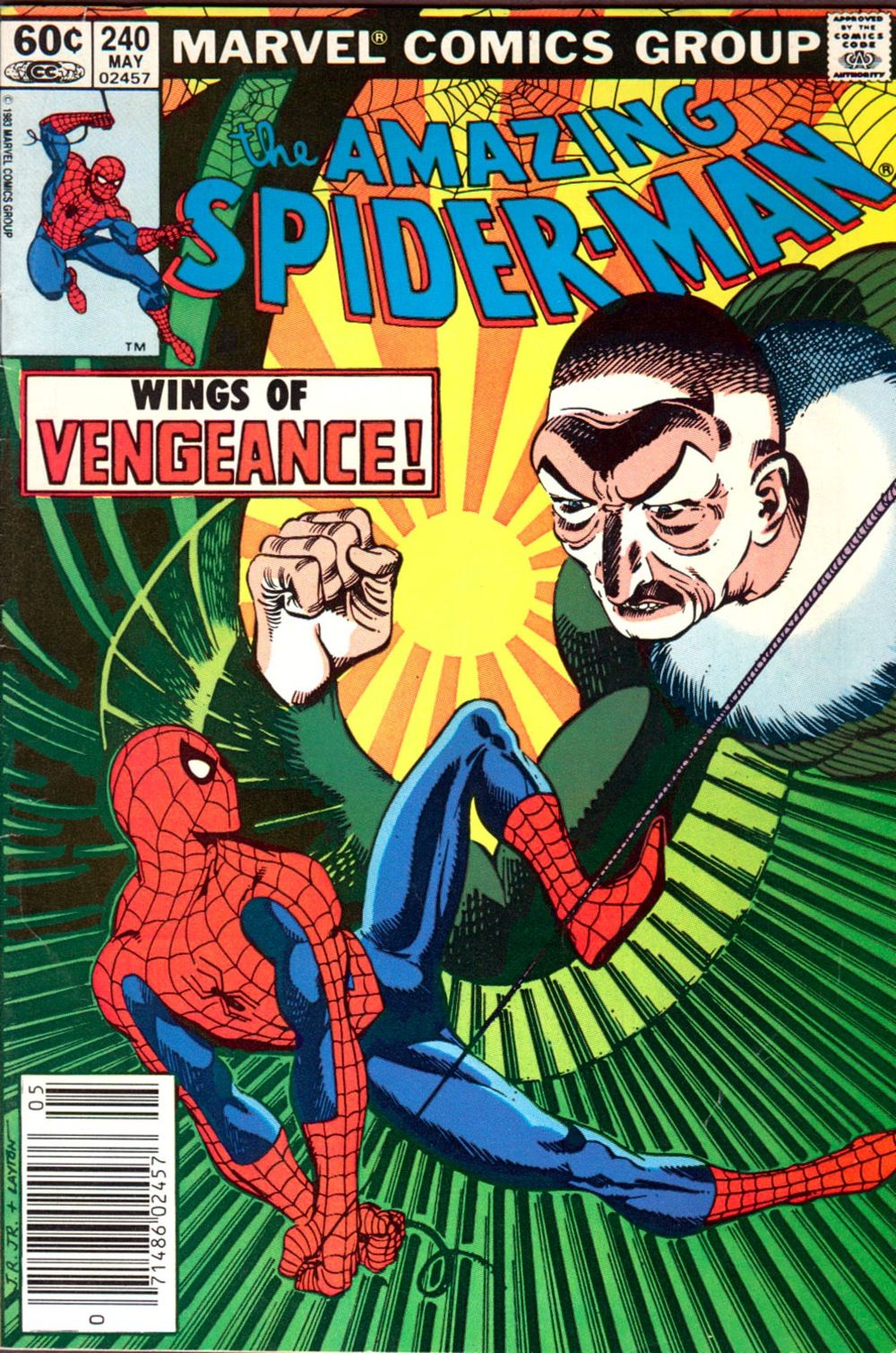 Another Stern Romita highlight: making the Vulture into an interesting, credible villain.