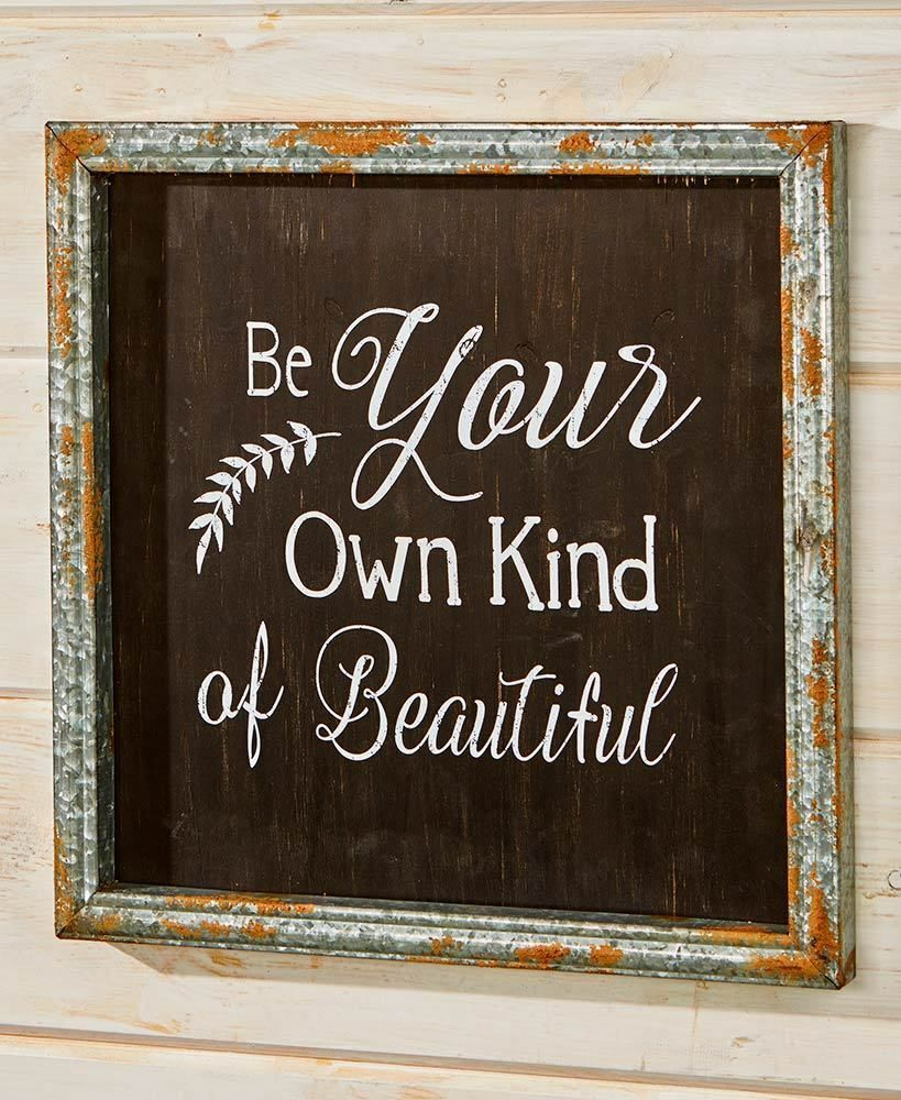 Inspiration Wall Plaque Be Your Own Kind Of Beautiful Art Dorm Gift Country Country Wall Art Inspirational Wall Art Metal Wall Flowers