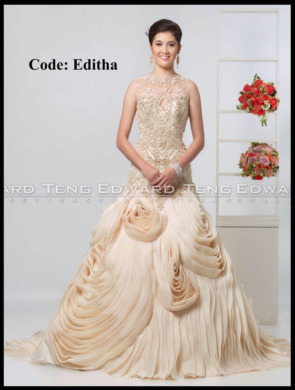 edward teng gown | philippines wedding gown designer | Pinterest ...