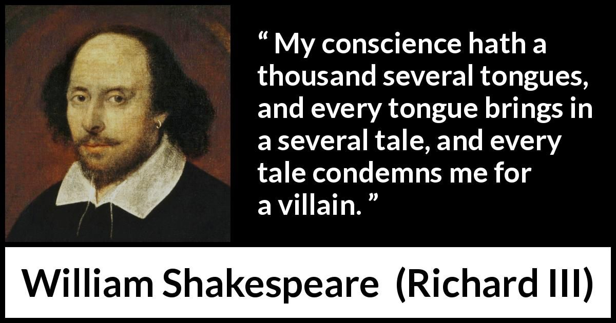 William Shakespeare About Conscience Richard Iii 1597 In 2020